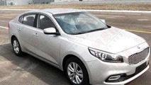 Kia K4 production version photographed totally undisguised