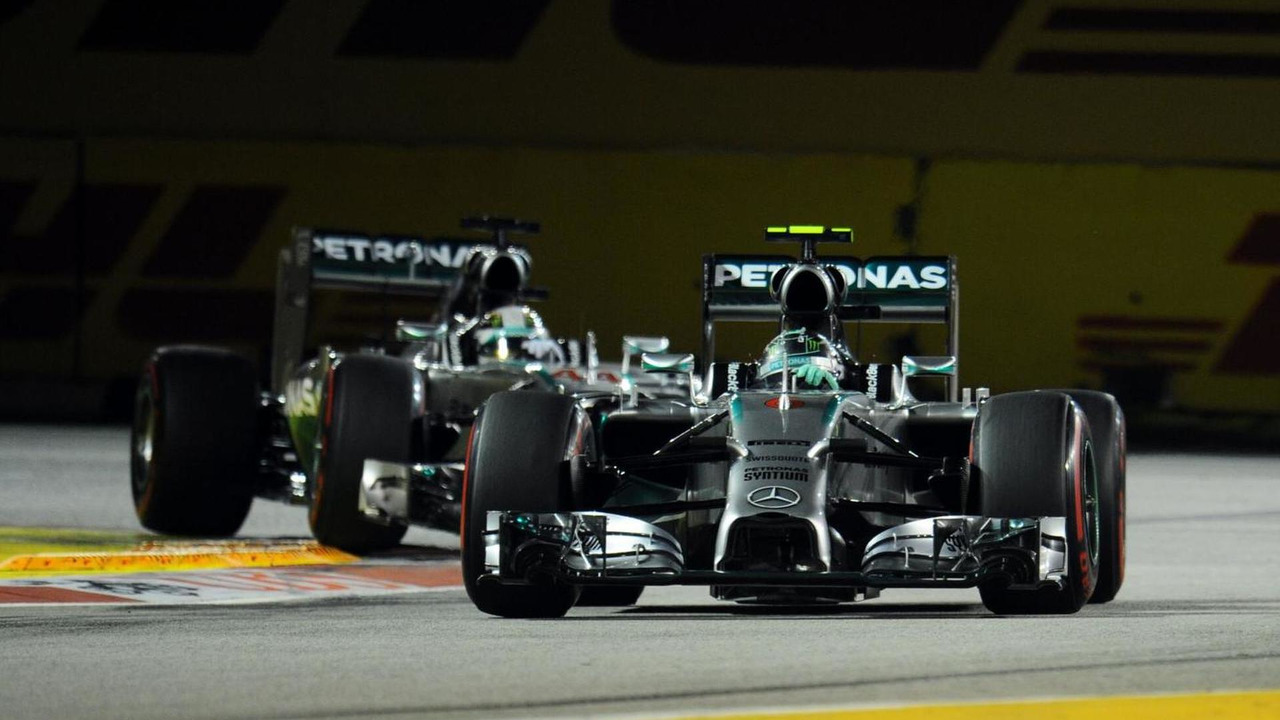 Nico Rosberg (GER) and team mate Lewis Hamilton (GBR) / XPB
