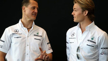 Rosberg happy, Schu not as quali gap grows to 7 tenths