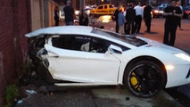 Lamborgini Aventador crash splits supercar in half