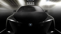 Chinese company teases four-door electric coupe for Shanghai debut