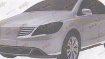leaked image of the first joint Daimler / BYD Denza model