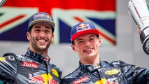 Podium: second position Daniel Ricciardo, Red Bull Racing, third position Max Verstappen, Red Bull Racing