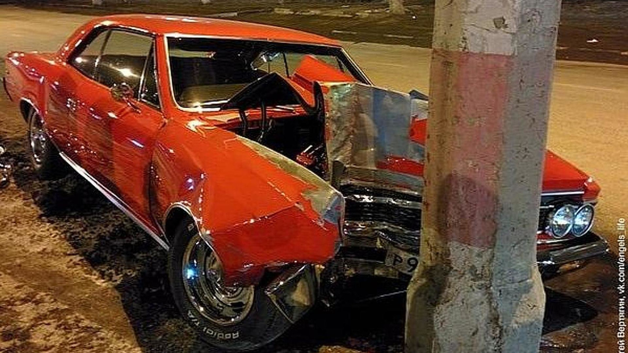 1966 Chevrolet Malibu SS crashed in Russia