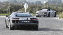 Audi R8 Spyder spy photo