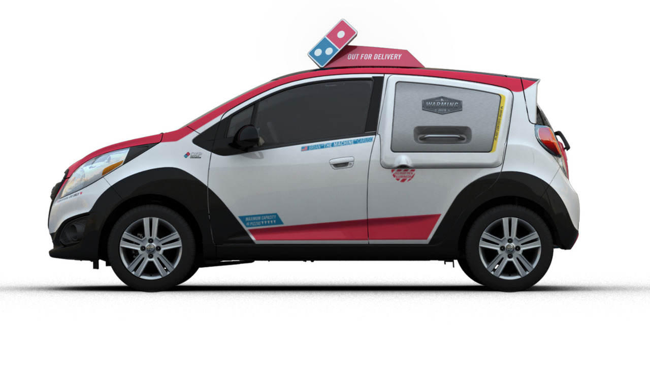 Chevrolet Spark DXP pizza delivery vehicle