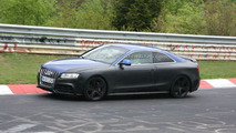 Audi RS5 spy photo at Nurburgring