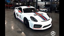 Porsche Cayman GT4 Looks Like a Proper Race Car in Martini Livery