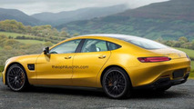 Panamera-fighting 2018 Mercedes-AMG GT4 speculatively rendered