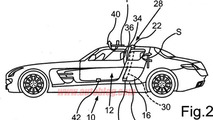 Four-Door Mercedes SLS AMG patent