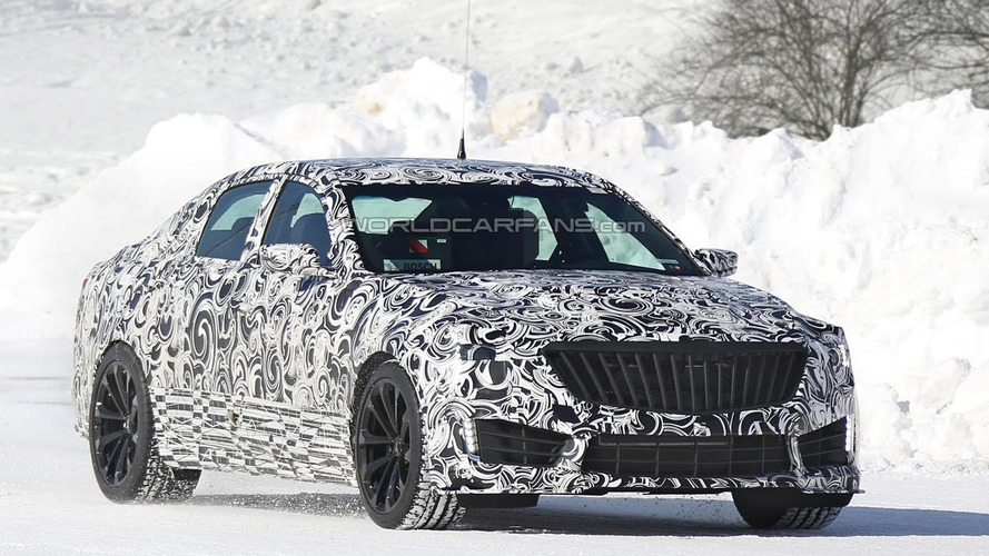 2016 Cadillac CTS-V spied hiding fresh front grille