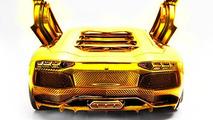 Gold-plated Lamborghini Aventador 1:8 scale model costs 7.5M USD [video]