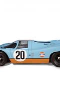 Porsche 917 1:1 replica with built-in 1:32 Le Mans raceway