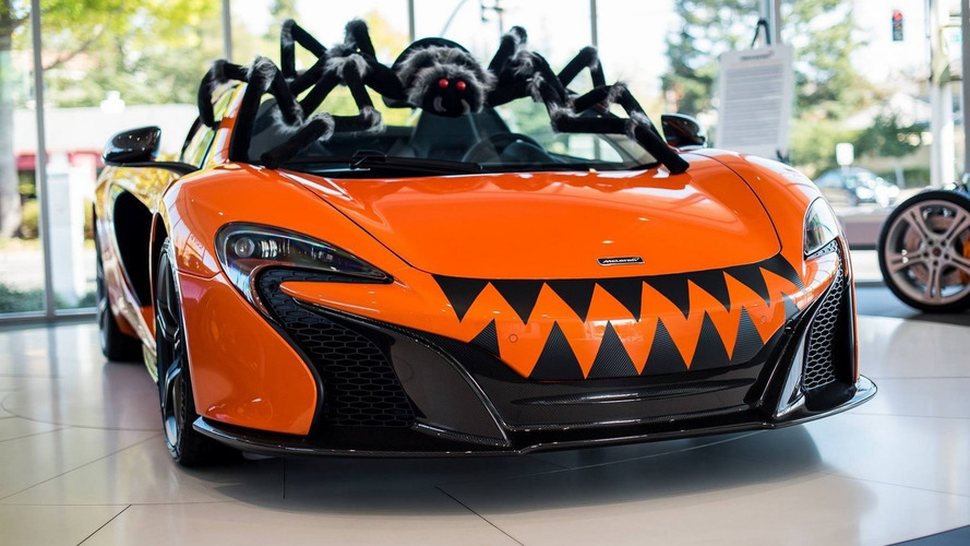 This McLaren 650S Spider lives up to its name for Halloween