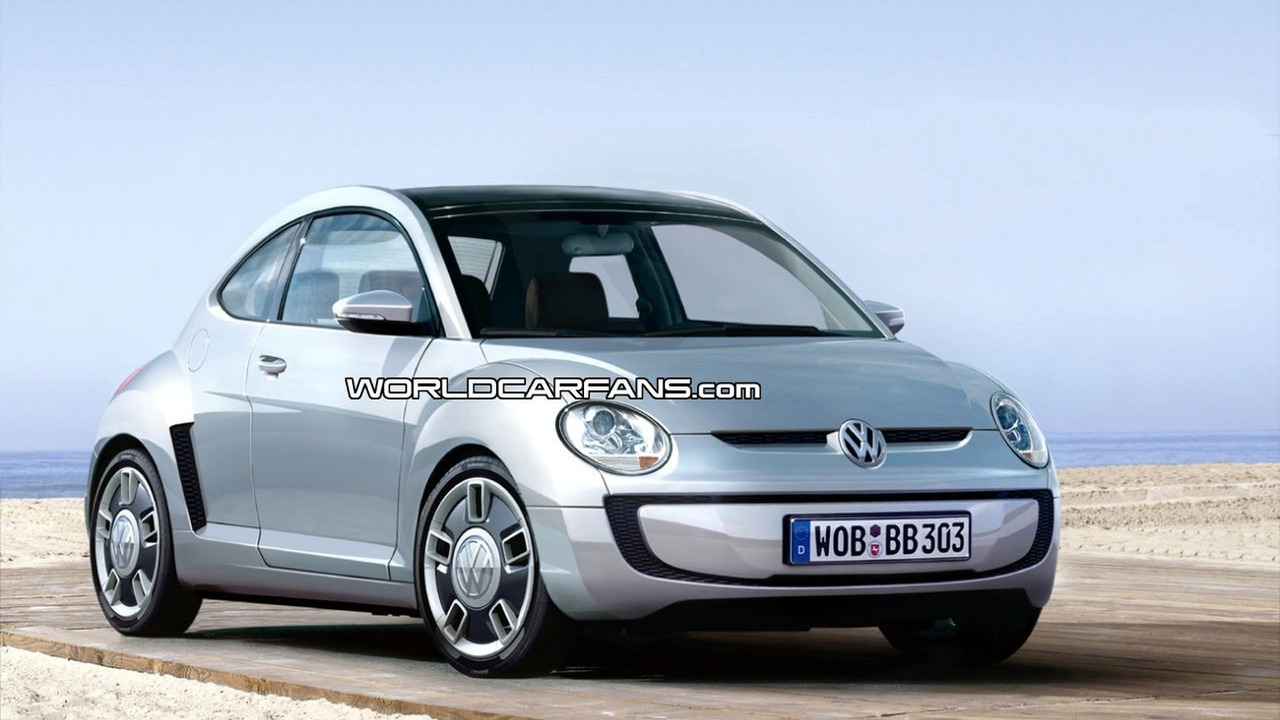 VW Beetle Up city car artist rendering