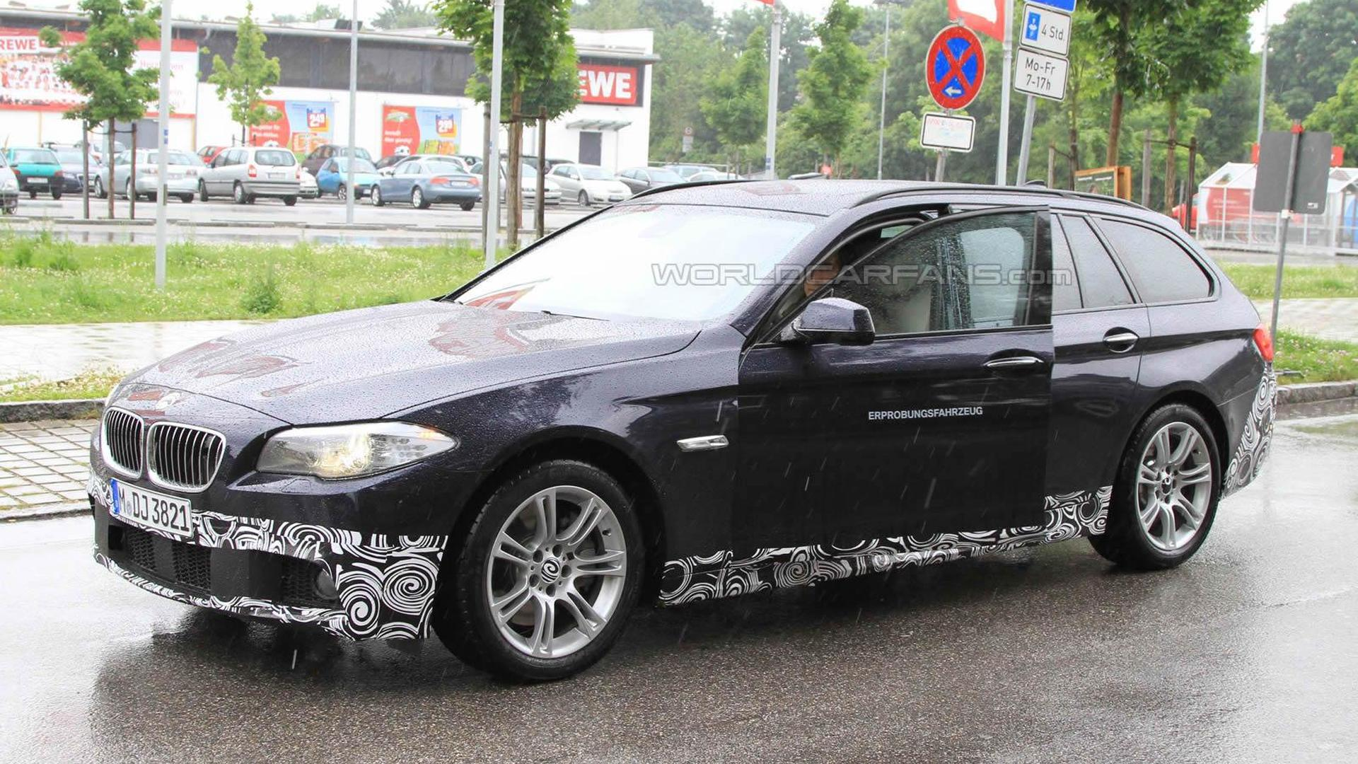 spied 2011 bmw 5 series touring with m sport package. Black Bedroom Furniture Sets. Home Design Ideas