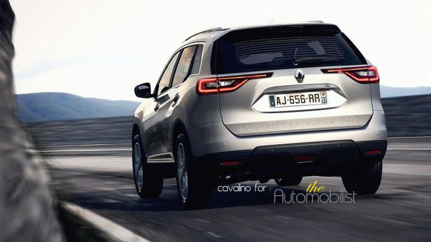 Second generation Renault Koleos speculatively rendered using latest spy pics