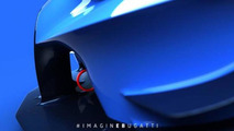Bugatti Vision Gran Turismo shows front splitter and wheel in new teasers