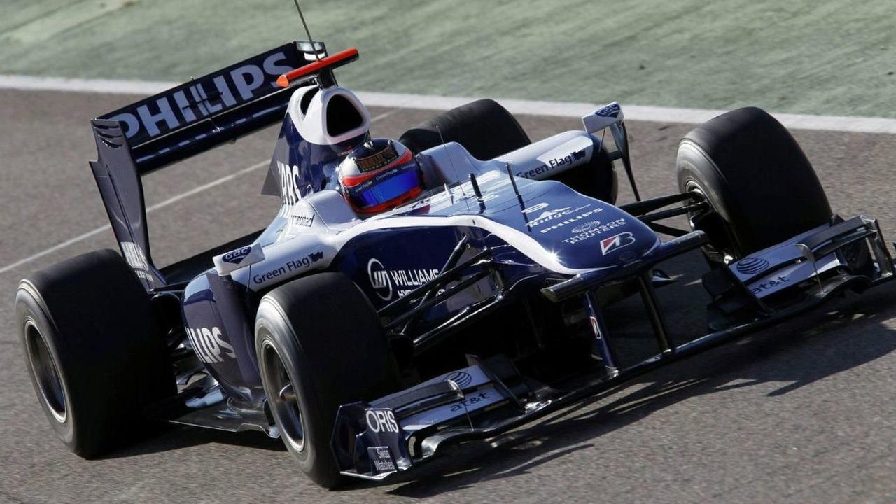 Rubens Barrichello, Williams FW32 Cosworth testing, Valencia, Spain, 02.01.2010