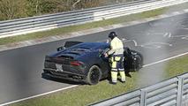 Lamborghini Huracan runs out of fuel on Nurburgring spy photo