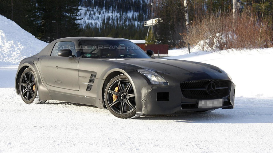 Mercedes SLS AMG Black Series Spied