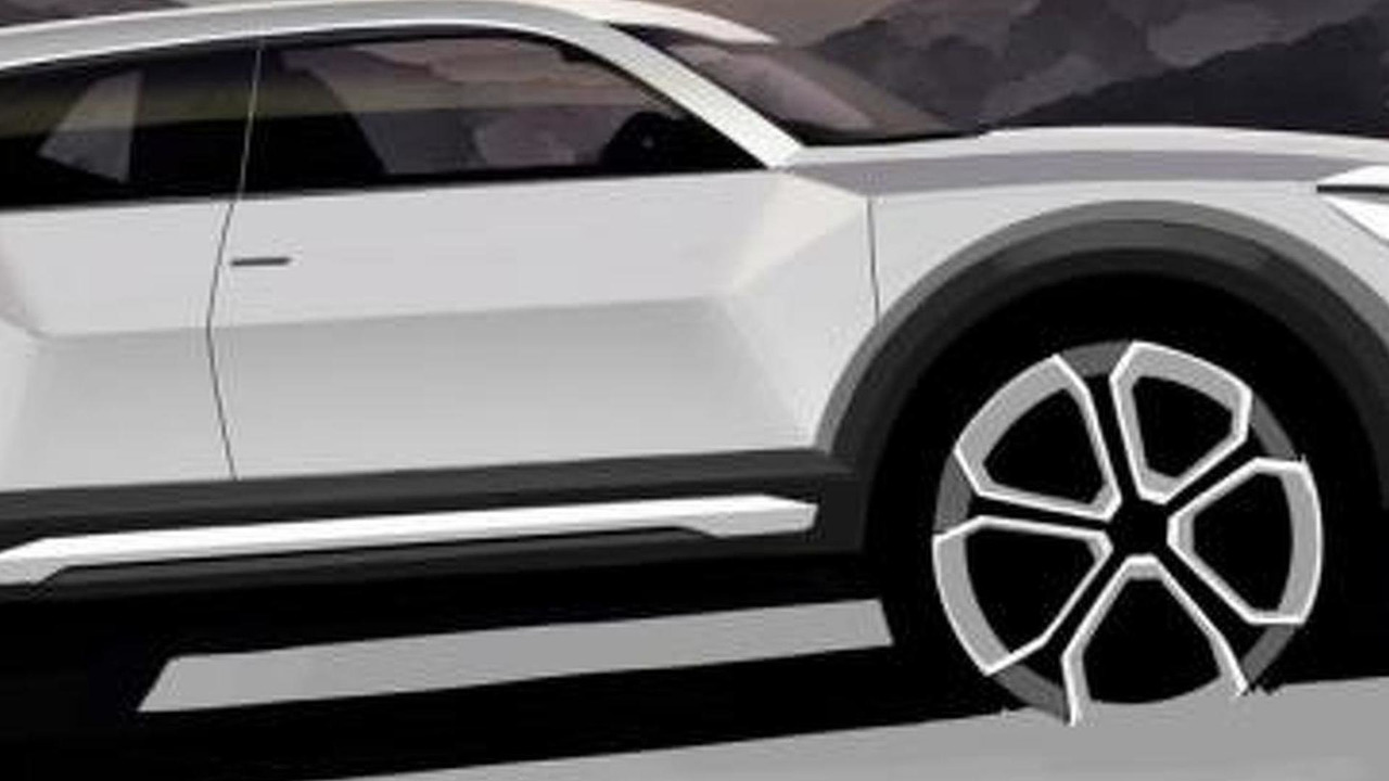 2016 Audi Q1 official teaser sketch
