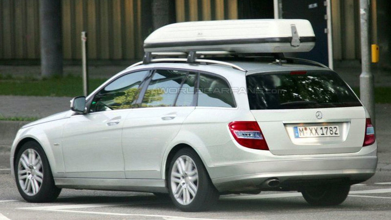 New Mercedes C-Class Wagon Spy Photos