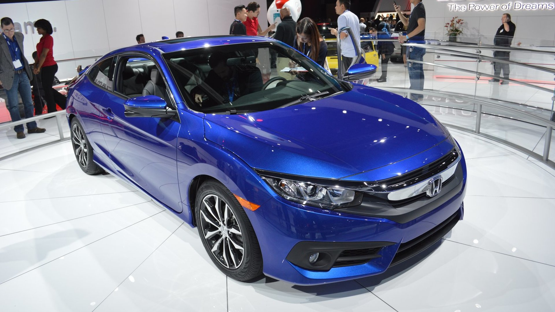 2016 Honda Civic Coupe unveiled with an optional turbocharged engine