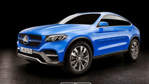 Mercedes-Benz Concept GLC Coupe rendered into production version