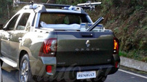Renault Oroch double cab pickup truck production version spied undisguised