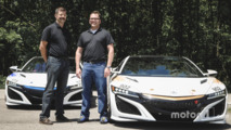 Nick and James Robinson with the Time Attack NSX Vehicles