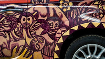 Fiat 500 art car from Mozambique - last piece by artist before passing away
