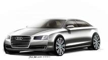 2014 Audi A8 facelift teased via official design sketches