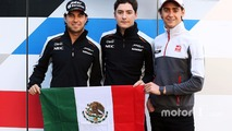 Mexican drivers: Sergio Perez, Sahara Force India F1; Alfonso Celis Jr., Sahara Force India F1 Development Driver and Esteban Gutierrez, Haas F1 Team
