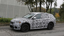 2015 BMW X1 spied testing front-wheel-drive system