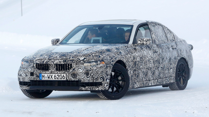 Next-generation BMW 3 Series spied on video drifting in the snow