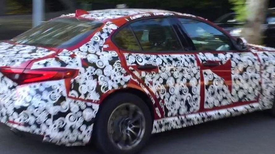 Entry-level Alfa Romeo Giulia filmed on the road [video]