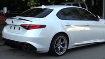 White Alfa Romeo Giulia Quadrifoglio filmed up close and personal [video]