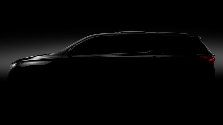 2018 Chevy Traverse teased ahead of Detroit debut