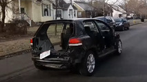 Stripped out VW Golf TDI driven before eventually handed to dealer