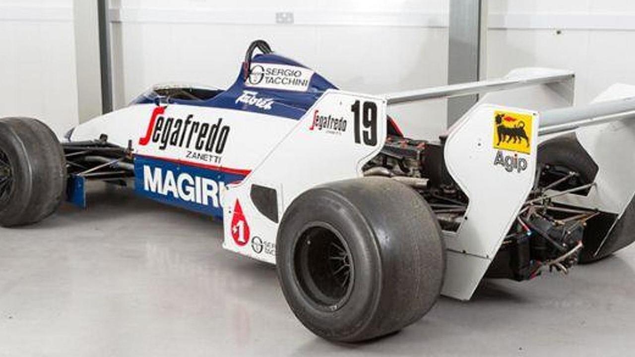 Toleman TG183B driven by Ayrton Senna