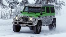 Four-wheel version of Mercedes-Benz G63 AMG 6x6 spied winter testing