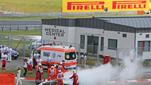 Hamilton's hopes up in flames in Hungary