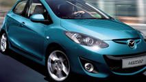 The Mazda2 – World Car of the year 2008 – has received a facelift and celebrates its European premiere at Paris.