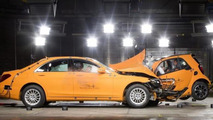 Smart ForTwo safety showcased in crash test video with Mercedes S-Class