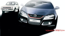 VW Golf GTI design sketch