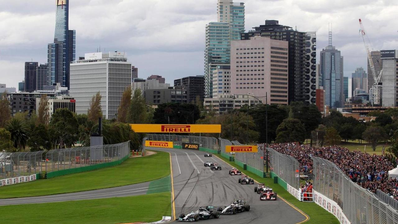 Lewis Hamilton at the start of the race, 16.03.2014, Australian Grand Prix, Albert Park, Melbourne / XPB