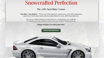 Mercedes AMG holiday e-card - snowflake creator
