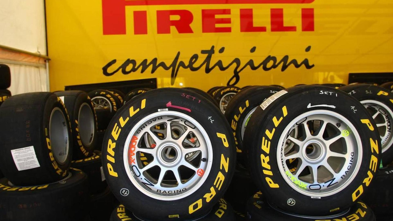 Pirelli tires used for GP3 racing, in the GP3 paddock, Turkish Grand Prix, 27.05.2010 Istanbul, Turkey