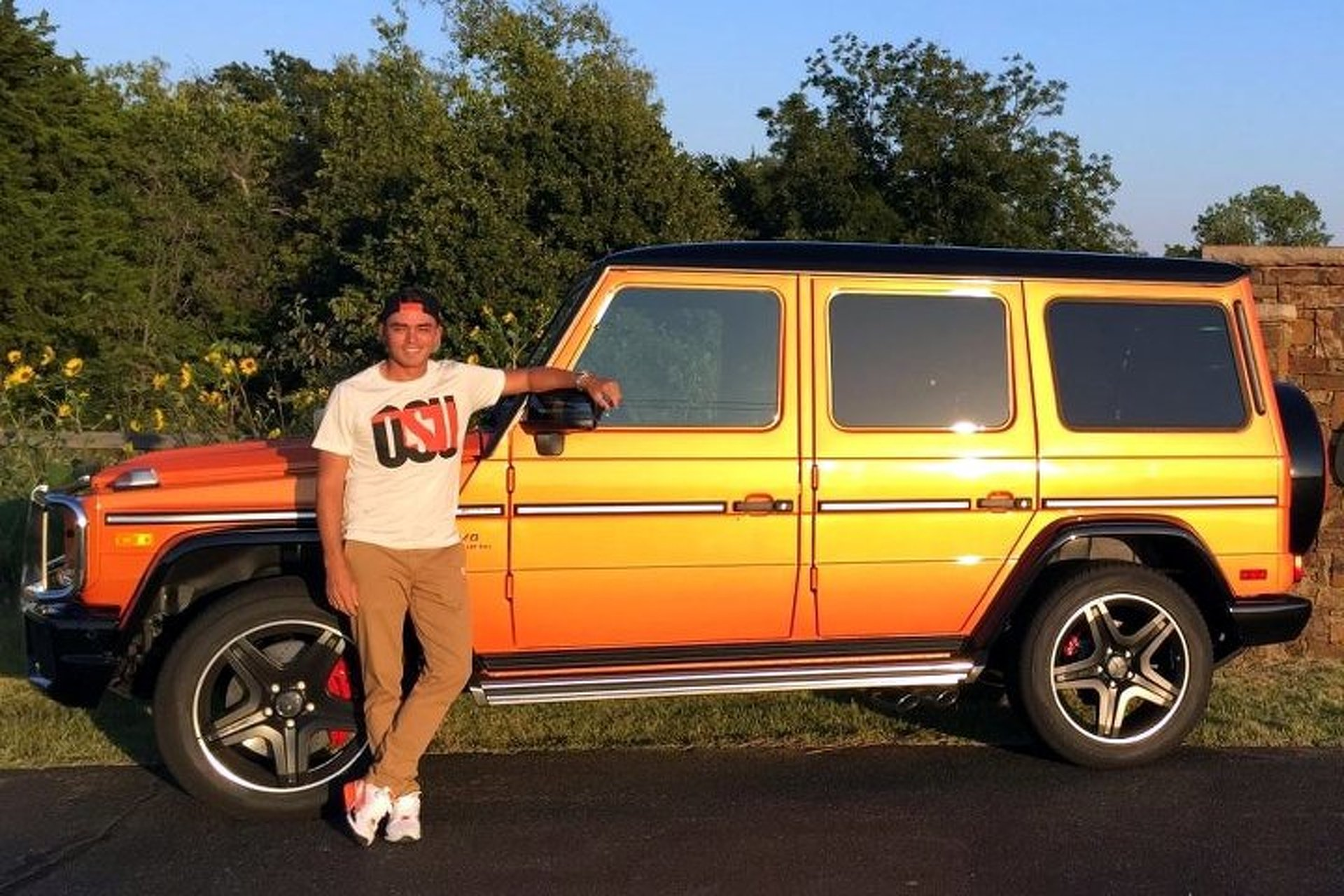 pro golfer rickie fowler flaunts his orange gclass at